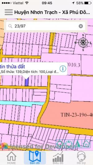 Lô đất xã phú đông nằm cách đường lớn 100m.  Đường bê tông thông thoáng gần trường học 1,2,3