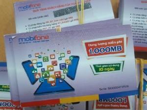 Thẻ cào data 1000MB mobifone