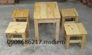 Bàn ghế gỗ cafe cóc giá siêu rẻ