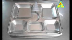 Khay cơm inox 5 ngăn 304 cao cấp Hàn Quốc