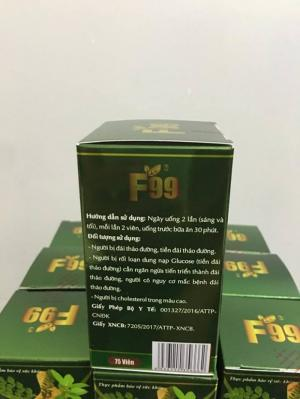 F99 không gây tác dụng phụ trên lâm sàng và không làm thay đổi các chỉ tiêu huyết học và sinh hoá.