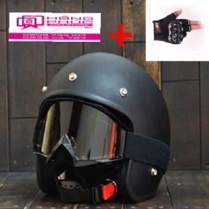 Combo Nón 3.4 Và Kính Bảo Hộ UV500 Và Găng Tay Gù Cho Phượt Thủ