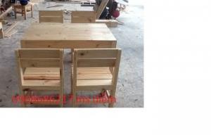 Bàn ghế gỗ quán cóc giá rẻ nhất tại nơi sản xuất