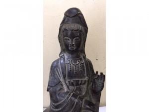 Tượng Phật Bà Quan Âm Tự Tại ... Chất Liệu Đồng Giả Cổ .