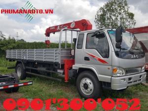 Xe tải jac 6.4 tấn còn ứng dụng trong việc đóng xe nâng hạ chở máy công trình. Xe tải jac 6.4 tấn đóng thùng nâng hạ chở máy công trình đa chức năng, ngoài việc chở máy công trình, còn có chức năng cẩu, kéo. Khách hàng có thể kết hợp giữa xe nâng đầu chở máy công trình với các loại cẩu: unic, tadano, kanglim, soosan hoặc Dongyang.