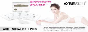 Bộ Tắm Trắng Sữa Non Cô Đặc 5 Trong 1 White Shower Kit Plus O'Be Skin