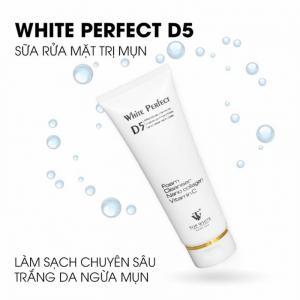 Sữa Rửa Mặt Thiên Nhiên Trắng Da, Ngừa Mụn Top White D5