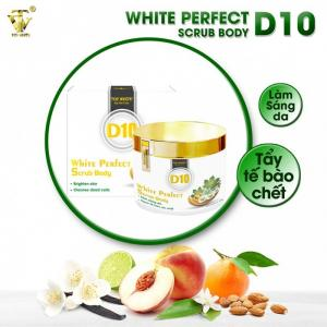 Da Ngăm Cỡ Nào Cũng Trẻ Mịn, Bật Tone Ngay Khi Dùng Gel Làm Sạch Tế Bào Chết White Perfect Scrub Body D10