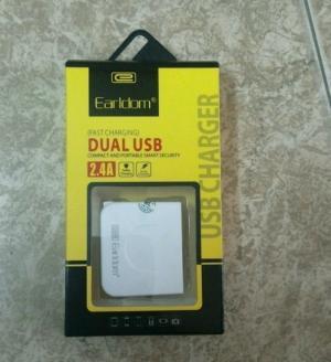 Cốc sạc cao cấp Earldom 2 cổng USB 2,4A