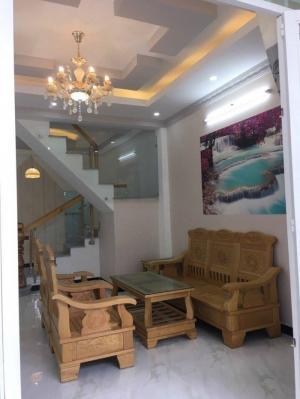 Bán nhà hẻm 1806 Huỳnh Tấn Phát TT Nhà Bè, DT 4m x 13m, 1 lầu, 2 PN