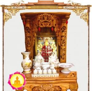 Bàn thờ Tài Địa Gỗ Xoan Đào Như Ý