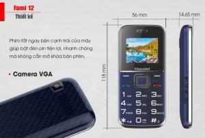 Hơn nữa, mặc dù chỉ nằm trong phân khúc feature phone nhưng Fami 12 vẫn được trang bị camera VGA tiện dụng, giúp bạn  chụp lại những tài liệu quan trọng, các văn bản, giấy tờ cần thiết trong công việc.