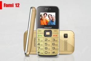 Điện thoại Cho Người Lớn Tuổi Masstel Fami 12, Hỗ trợ Kết nối FM, GPRS, Bluetooth... - MSN181251