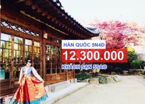 Tour Hàn Quốc Mùa Lá Đỏ Là Vàng 5 Ngày 4 Đêm