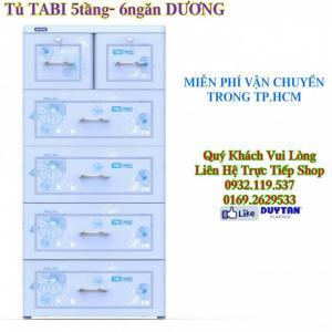 Tủ Nhựa Duy Tân Tabi 5 Tầng - 6 Ngăn