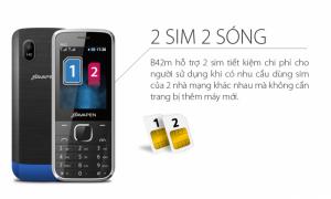 Bavapen B42 Điện thoại Kiêm Sạc Dự Phòng, 2 Sim Đa Năng - MSN181253