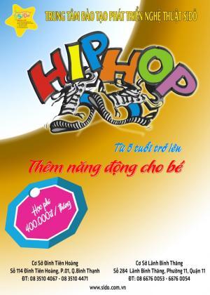 SiĐô chiêu sinh các lớp nhảy hiphop dành cho bé từ 6 tuổi trở lên