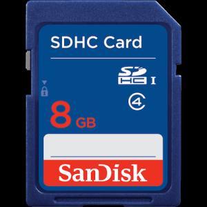 Thẻ nhớ Sandisk SDHC 8GB Class 4 mới 100% BH : 5 năm