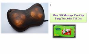 Gối Massage Hồng Ngoại Kasumi 6 bi cao cấp - Giảm đau, giảm tình trạng căng cơ, xua tan những cơn mệt mỏi - MSN383077