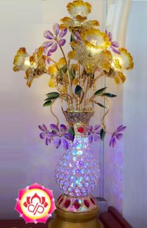 Đèn Thờ Phật Pha Lê Thủy Tinh Đèn Led