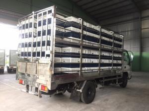 ISUZU 2,2 tấn thùng inox chở gia cầm, inox nguyên con