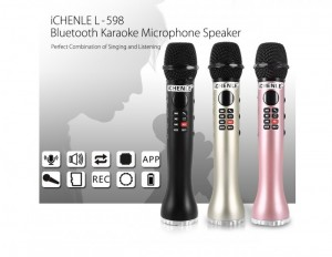 Mic Karaoke Bluetooth L-598, Âm Thanh To Rõ, Hỗ Trợ Ghi Âm Giọng Hát - MSN388241