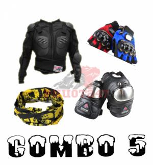 Combo đồ bảo hộ xe máy - moto 05