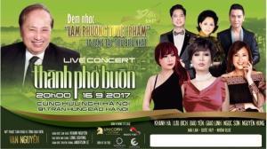 Bán vé Đêm nhạc Lam Phương vào 20h ngày 16/9 tại Cung Văn Hóa Hữu Nghị Việt Xô Hà Nội