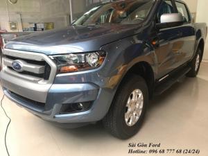 Khuyến mãi mua xe Ford Ranger XLS, số sàn, màu xanh thiên thanh, vay trả góp chỉ 150 triệu, giao xe tháng 08/2017
