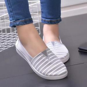 Giày lười lưới nữ kẻ sọc