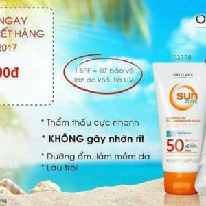 Kem chống nắng Sun Zone UV Protector Face And Exposed Areas SPF50 High