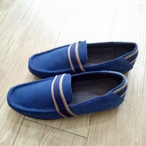 Giày Mọi Da Lộn Clarks Xanh Đen