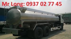 Xe bồn Hino 15 tấn chở dầu thực vật, xe bồn Hino 3 chân chở dầu thực vật , Xe tải chở dầu thực vật , Xe chở dầu cá , Xe bồn INOX chở sữa