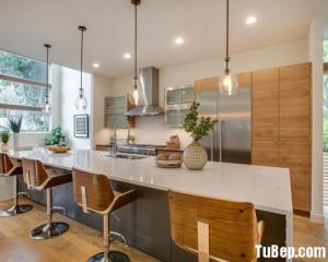 Tủ bếp gỗ công nghiệp hiện đại cho nhà chung...
