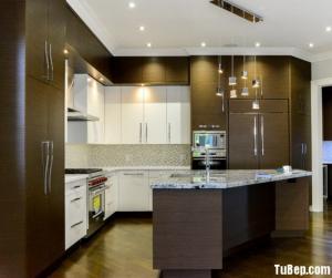 Tủ bếp gỗ Laminate chữ L với lối thiết kế đậm chất Châu Âu – TBT16