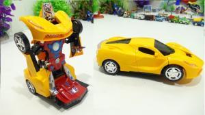 Ô Tô Biến Hình Thành Robot Dùng Pin, Phát Nhạc