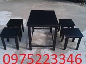 Bàn ghế gỗ cafe cóc Thanh lí gấp 25 bộ ghế gỗ xếp hàng mới bán giá rẻ..