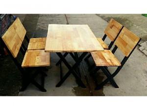Bàn ghế gỗ cao su