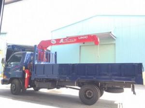 Bán xe HD99 lên cẩu UNIC 340 thùng dài 4,4m, tải trọng 5,4 tấn