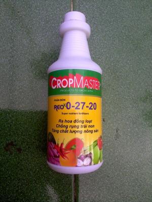 Phân bó lá REO 0-27-20 nhập khẩu từ Mỹ (Hoa Kỳ) của tập đoàn CropMaster