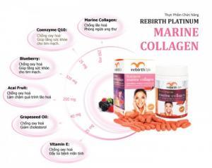 Thực Phẩm Chức Năng Viên uống Rebirth Platinum Marine Collagen chiết xuất từ sinh vật biển