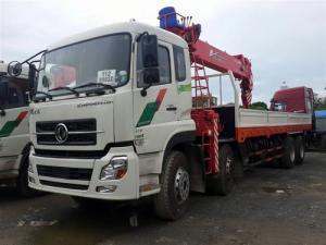 Bán xe tải Dongfeng gắn cẩu Uinic 17t9, trả góp toàn quốc
