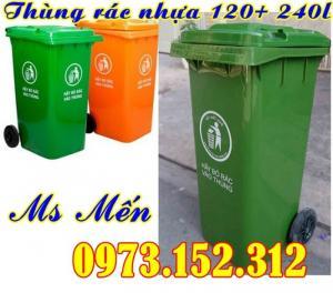Thùng rác nhựa HDPE 120 lít, 240 lít giá rẻ nhất