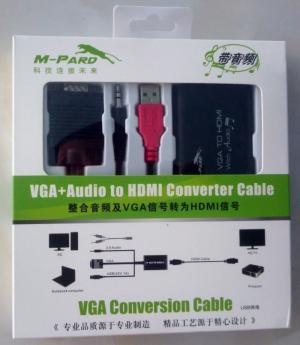 Cáp chuyển đổi VGA to HDMI + audio M-Pard MD008 loại tốt