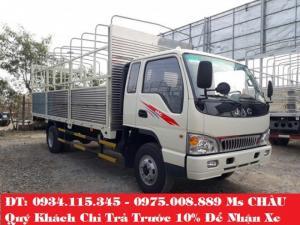 Đại lý bán xe tải jac 6tan4 ( 6,4 tấn) jac 6T4 jac 6.4T jac 6,4t trả góp lãi suất ưu đãi nhất.