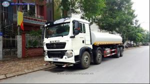 Bán xe bồn chở nước Howo 16 khối. nhập khẩu 2017. xe mới 100%