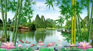 Tranh 3d làng quê vn