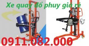 PP xe nâng tay thấp giá rẻ- Xe nâng quay đổ phuy giá thấp