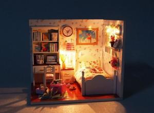 Mô hình nhà gỗ mini DIY mô phỏng chuẩn xác từng chi tiết  - MSN1831013