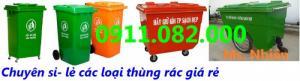 Bán sỉ- lẻ thùng rác 120 lít, 240 lít nhựa HDPE, Composite giá rẻ